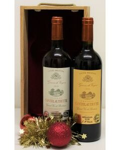 Bordeaux Duo - In Wooden Box Chateau Cantelaudette product photo