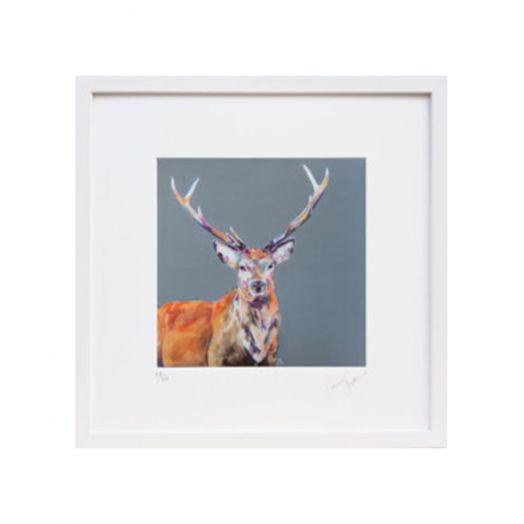 Lorraine Fletcher | Stag Night Framed Print - Small