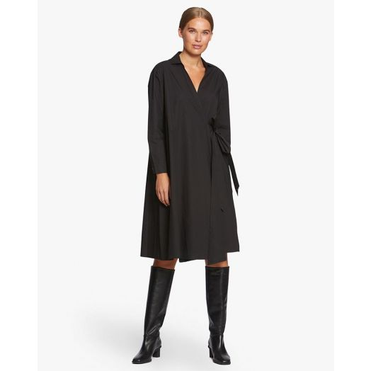 Masai | Nessa Wrap and Collared Dress- Black