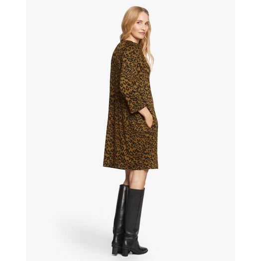 Masai | Galitta Leopard Print Dress- Tapenade