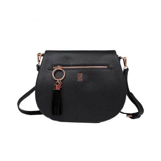 Tipperary Crystal | Savoy Large Satchel Bag | Black
