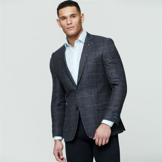Magee | Donegal Tweed Classic Fit Blazer-Grey Check