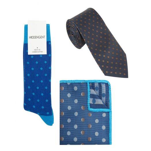 Hidden Gent | Vega Three Piece Pocket Square, Socks and Tie Set