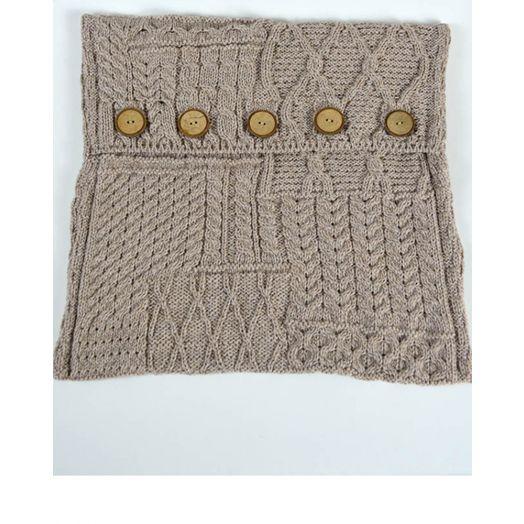 Aran Woollen Mills | Aran Knit Cushion Cover A520- Wicker