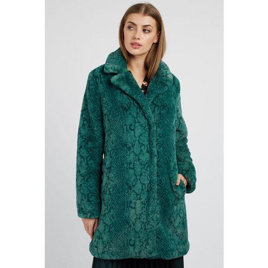 Louche | Wainwright Faux Fur Coat- Green