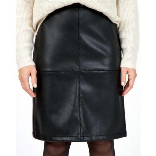 Soya Concept | Beckie Pleather Skirt-  Black