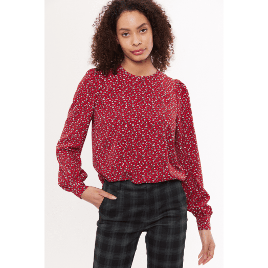 Louche | Lima Forget Me Knot Print Blouse- Red