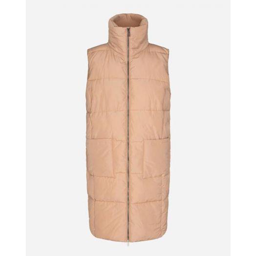 Soya Concept | Nina Sleeveless Puffy Jacket- Cream