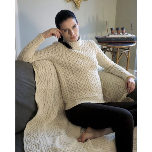 West End Knitwear |  Supersoft High Neck Sweater | Natural | C4767