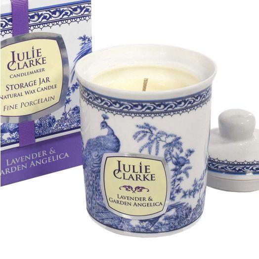 Julie Clarke | Lavender and Garden Angelica Storage Jar Candle 150g