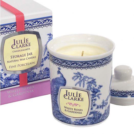 Julie Clarke | White Rose and Gardenia  Storage Jar Candle 150g