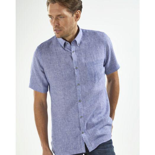 Vedoneire | Short Sleeve Linen Mix Shirt - Waldron