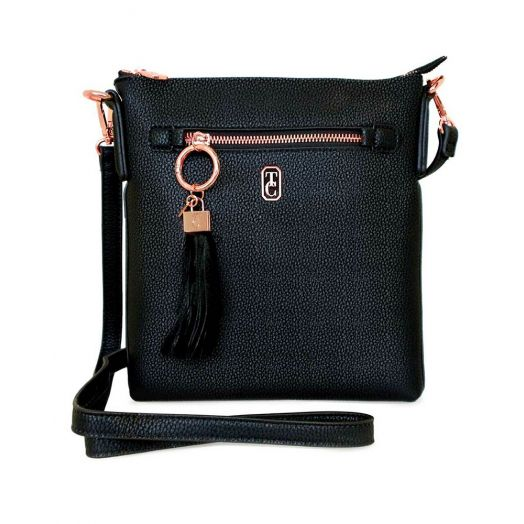Tipperary Crystal | Chelsea Cross Body Pouch Bag- Black