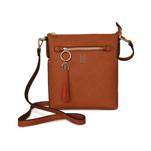 Tipperary Crystal | Chelsea Cross Body Pouch Bag- Tan