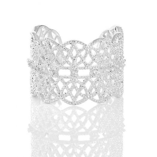 Newbridge Silverware | Silver Played Lace Ring