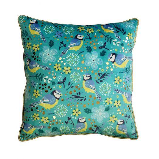 Tipperary Crystal | Birdy Blue Tit Cushion