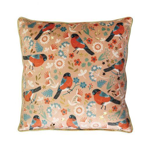 Tipperary Crystal | Birdy Cushion Bullfinch