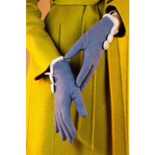 Powder   Christabel Wool Gloves in Navy
