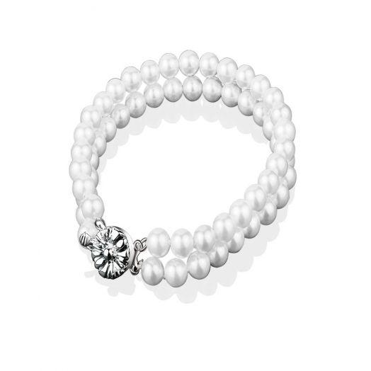 Newbridge Silverware   Grace Kelly Pearl Double Strand Bracelet