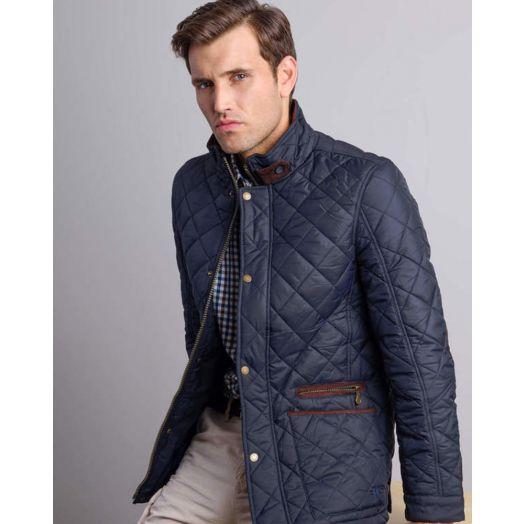 Vedoneire   Men's Quilted Jacket-Navy