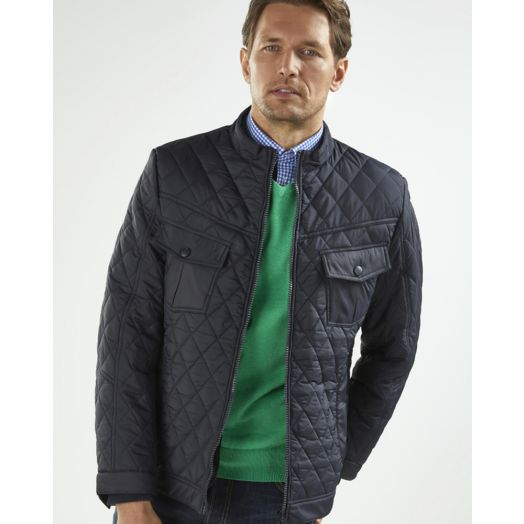Vedoneire | Jersey Lined Quilted Jacket - Navy