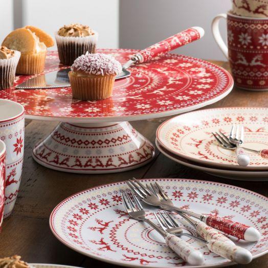 Belleek | Aynsley Fairisle Pastry Set