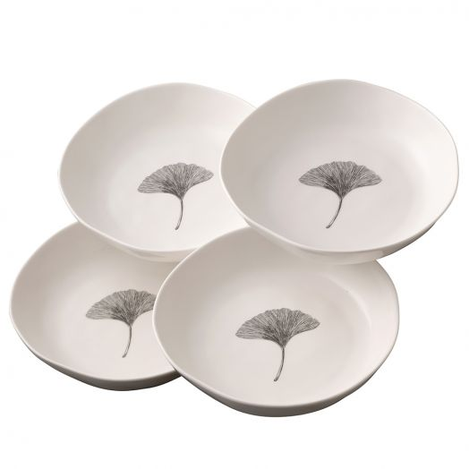 Belleek   Gingko Pasta Bowls - Set of 4