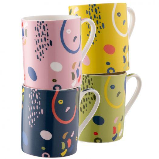 Belleek | Aynsley Verdant Mugs Set of 4