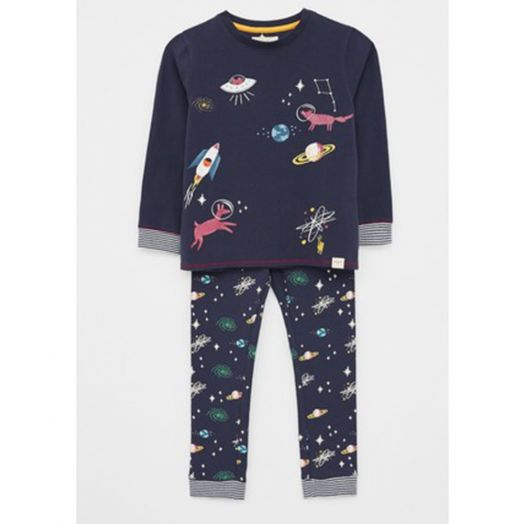 White Stuff | Find Me In Space Pyjamas- Navy