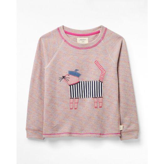 White Stuff | Winston Jersey Jumper- Mid Pink