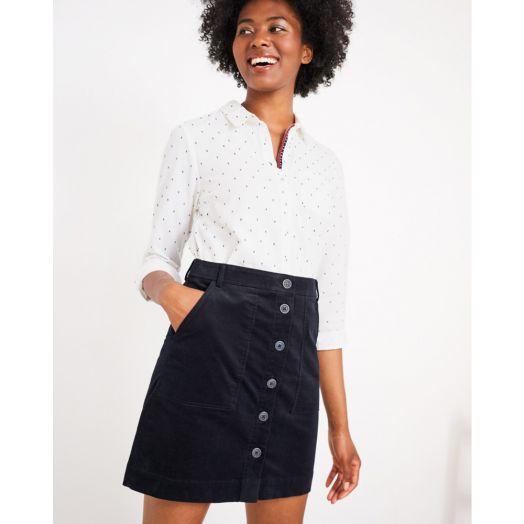 White Stuff | Cantebury Cord Skirt -Navy