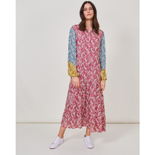 White Stuff | Elina Midi Print Dress- Pink Multi