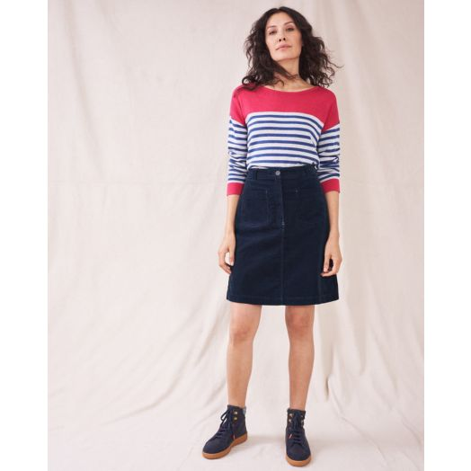 White Stuff | Melody Cord Skirt -Navy