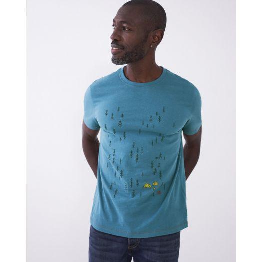 White Stuff | Camping Graphic T-Shirt- Blue