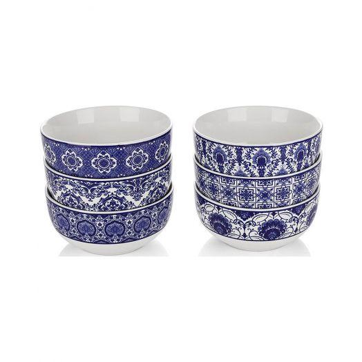 Newbridge Silverware | Mosaic Bowls Set of Six-Blue
