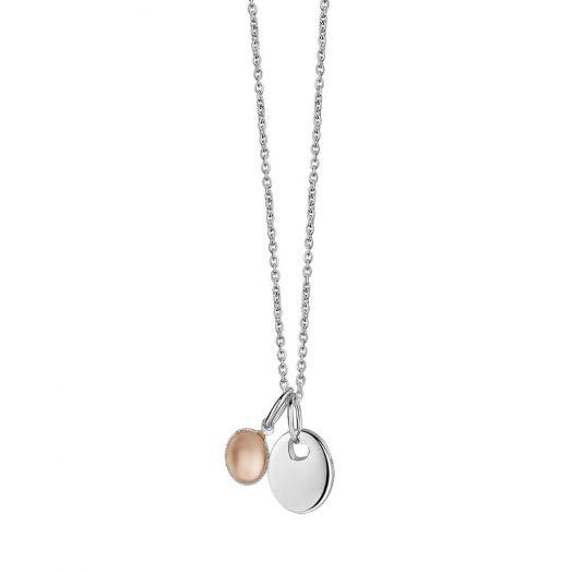 Newbridge Silverware   Mementos Pendant with Peach Stone