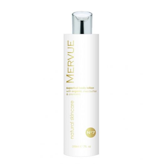 Mervue Organic Skincare | Superfruit Body Lotion with Organic Shea Butter and Cranberry