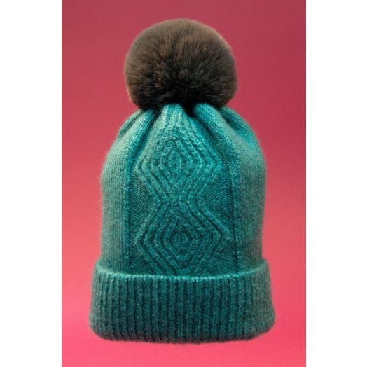 Powder | Ingrid Bobble Hat in Teal
