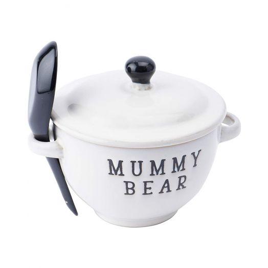Mummy Bear Porridge Bowl With Spoon Set