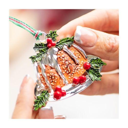 Newbridge Silverware   Christmas Pudding Decoration
