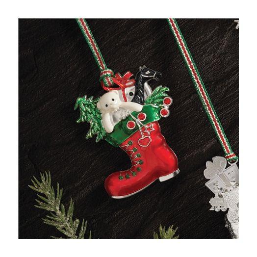 Newbridge Silverware | Christmas Red Boot Hanging Decoration
