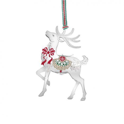 Newbridge Silverware | Reindeer With Red Bow Decoration