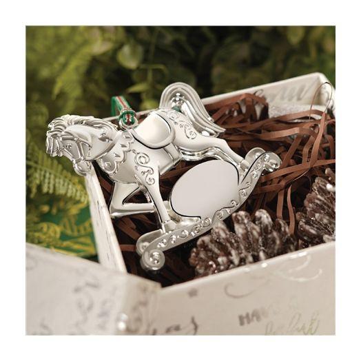 Newbridge Silverware |Silver Plated Rocking Horse Hanging Decoration