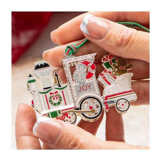 Newbridge Silverware | Santa In Train Hanging Decoration