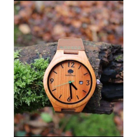 RusTech   100% Irish Wood Watch-Green