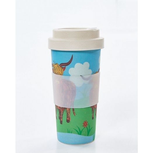 Eco Chic | Highland Cow Bamboo Cup
