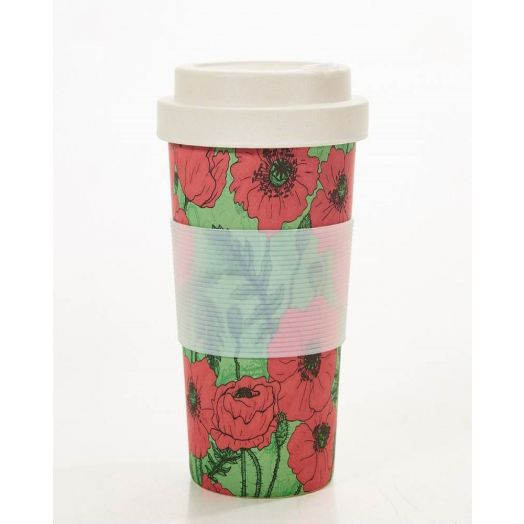 Eco Chic | Poppies Bamboo Cup
