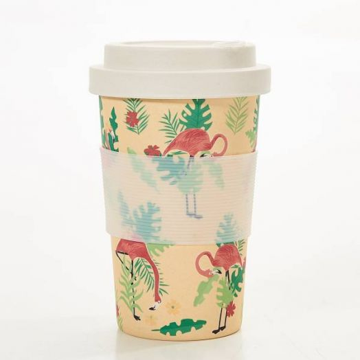 Eco Chic | Flamingo Bamboo Cup - Beige