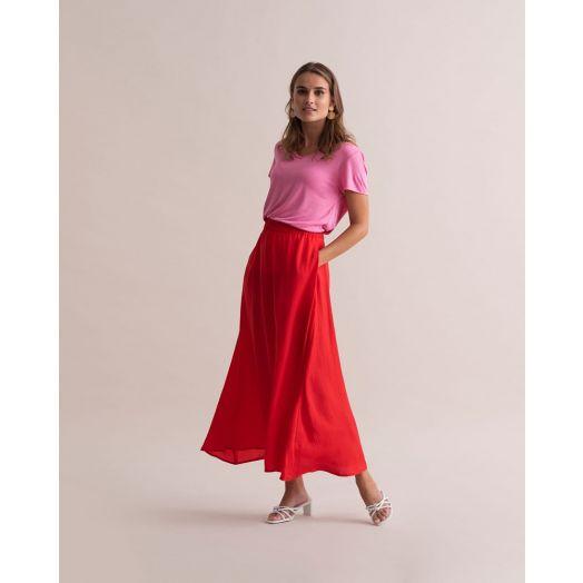 Kaffe | Kadaimi Maxi Skirt-Red