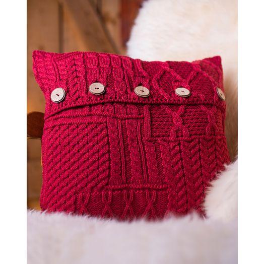 Aran Woollen Mills | Aran Knit Cushion Cover A520- Chili Red